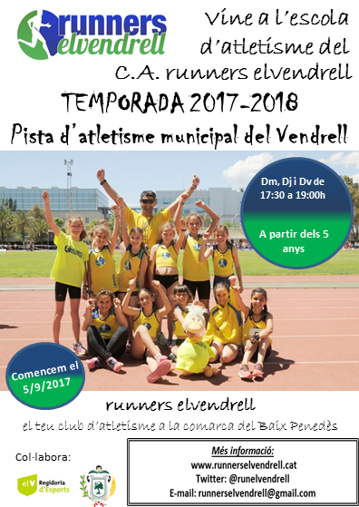 flyer Escola atletisme 2017