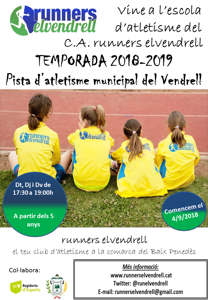 flyer Escola atletisme 2018